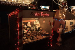 Santas toyshop (lehcar1477) Tags: santa christmas xmas holiday zoo lights massachusetts noel christmaslights toyshop stoneham zoolights stonezoo santascastle