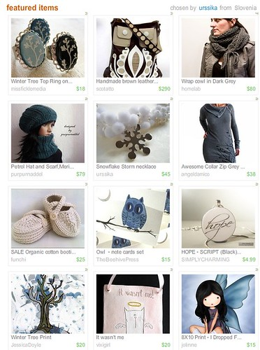 Etsy Treasury!