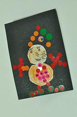 20091220-yoyo做的雪人卡片 (2)
