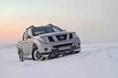 Frozen Navara (strasnonesto) Tags: winter sunset white snow cold truck nissan offroad 4x4 diesel 4wd pickup turbo navara
