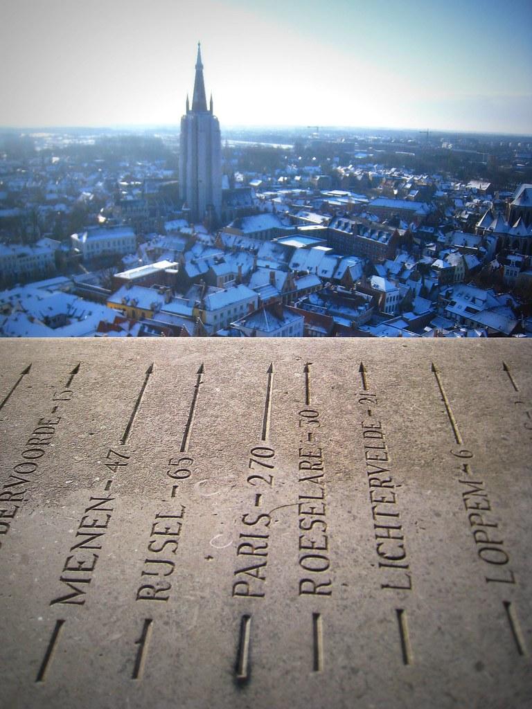 Du haut du Beffroi de Bruges