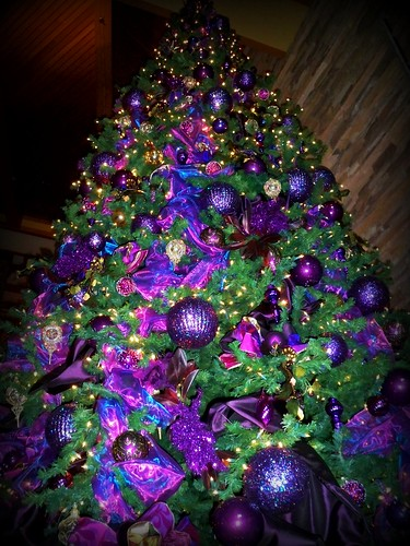 day 21 ~ who knew purple could be so christmasy...