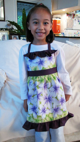 Custom made girl's apron - front