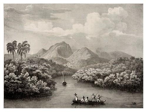 006-Rio Jnhomerim  en la bahia de Rio de Janeiro- Villeneuve Louis-Jules Frédéric-1835