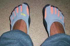 Gray & Orange Classic P3 (GenXShawn) Tags: five fingers vibram vff