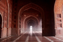 Fog Inside the Mosque at the Taj Mahal (ChrisGoldNY) Tags: india fog architecture asia forsale muslim islam agra getty albumcover bookcover mosques islamic gettyimages licensing uttarpradesh mughals flickrchallengewinner flickrchallengegame achallengeforyou creativecommonscentral chrisgoldny chrisgoldberg chrisgold chrisgoldphoto chrisgoldphotos