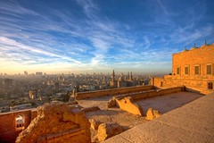 Cairo (Matt Champlin) Tags: life old city travel sunset sky history sahara clouds ancient colorful skies cityscape desert god muslim egypt middleeast mosque exotic cairo egyptian historical allah mosqueofmuhammadali lookingovercairo