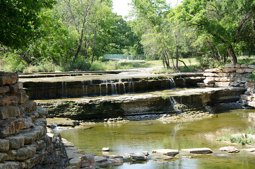 Waterfall on Farmers Branch Creek