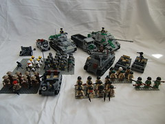 ww2 Collection 2011-05-23 (=DoNe=) Tags: lego collection ww2 sherman jagdpanther willysjeep ww2army opelblitz
