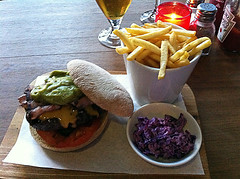Guacomole Burger at Red Lips Bar in Edinburgh