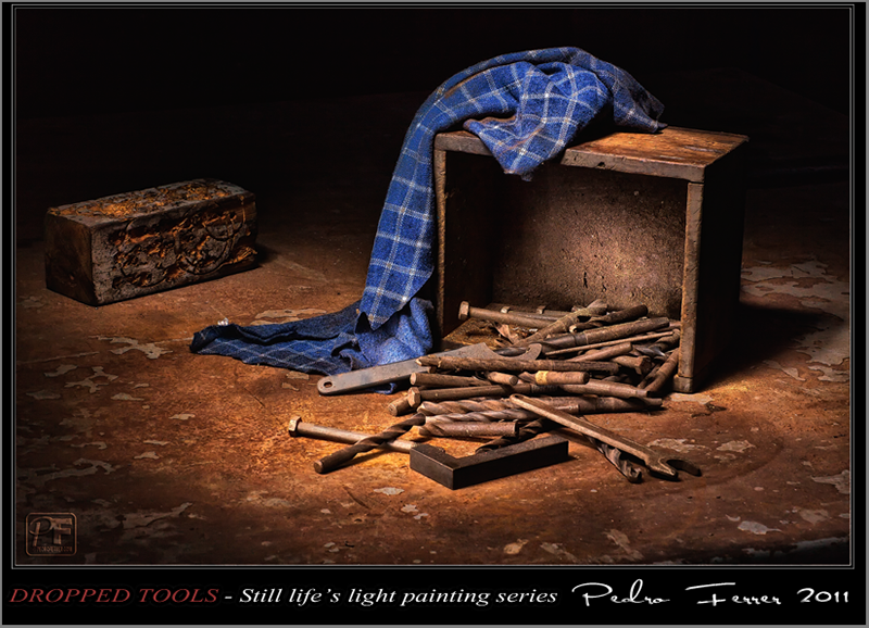 Dropped tools - Still life`s light painting series