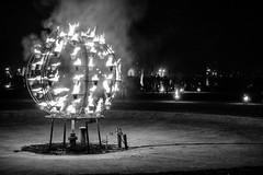 Boule de de feux (FranckyDesign!!!) Tags: 2017 feu alpha chateau noirblanc jardin franckydesign nuits des jardins de lumière bw nuit lunéville sony nuitsdesjardinsdelumière