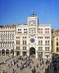Torre dell'Orologio (Tiigra) Tags: venezia veneto italy it venice 2014 architecture bell city clock lion palace roof sculpture statue tower art arch