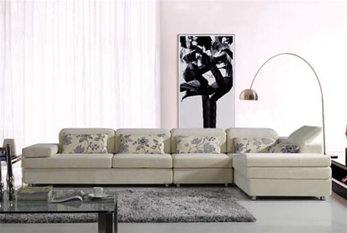 Martino Microfiber Sectional Set S319