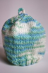 Blue-green baby hat