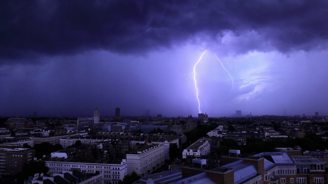 Lightning over London July 7th, 2009