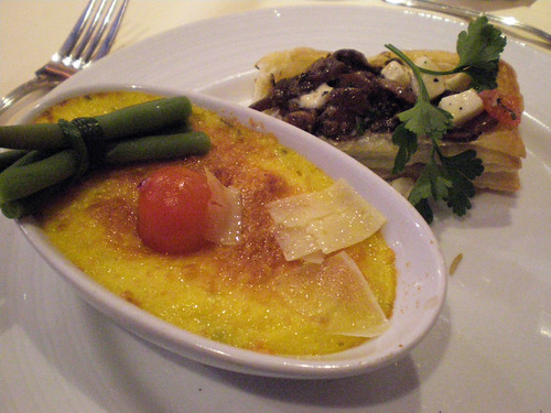Baked Herb Polenta with Ragout of Wild Mushrooms (Carnival Splendor)