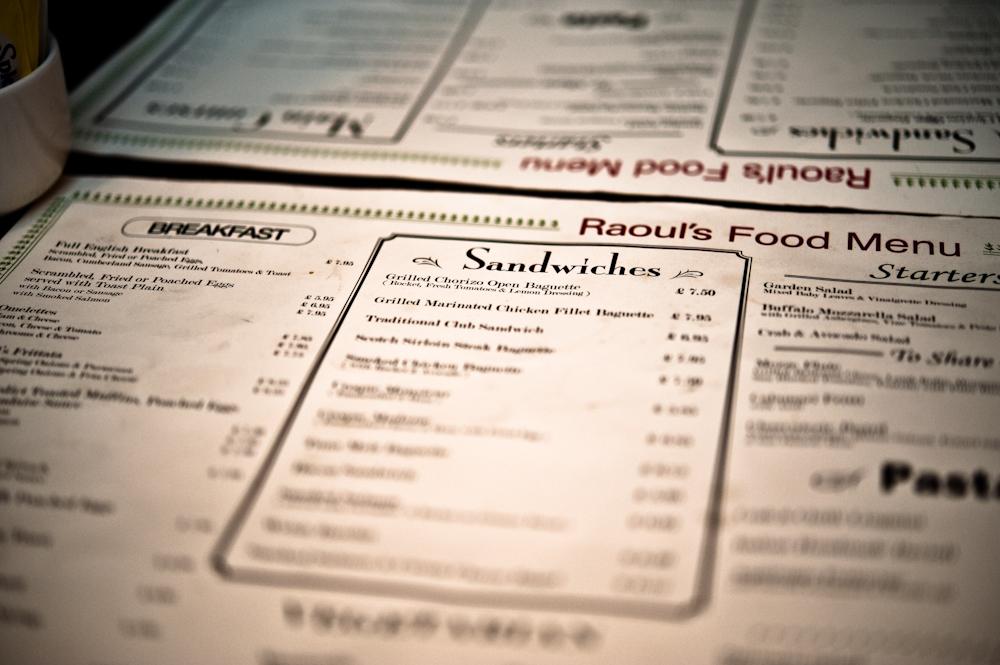 Raouls menu