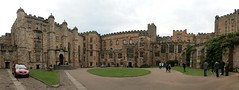 Durham University courtyard (jepoirrier) Tags: uk autostitch panorama castle university durham stitch courtyard hugin dh13hp