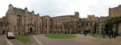 Durham University courtyard (jepoirrier) Tags: uk autostitch panorama castle university durham stitch courtyard hugin dh13hp