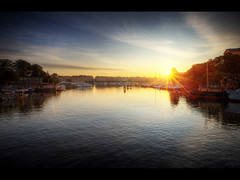 Sunrise in Stockholm (Kaj Bjurman) Tags: world summer sunrise eos sweden stockholm wide photowalk 5d sverige 2009 hdr kaj mkii markii cs4 photomatix bjurman