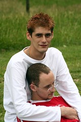 Simon and Owen (calmeilles) Tags: 2005 pride simonbowbrick owenblacker