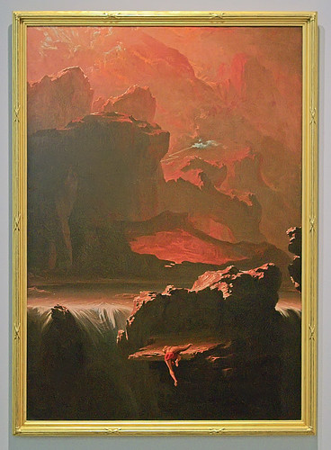 "Oil painting, ""Sadak in Search of the Waters of Oblivion"", by John Martin, 1812, at the Saint Louis Art Museum, in Saint Louis, Missouri, USA"