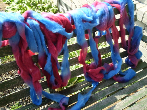 Hand Painted Texel Roving