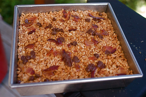 becky's rice krispies with bacon