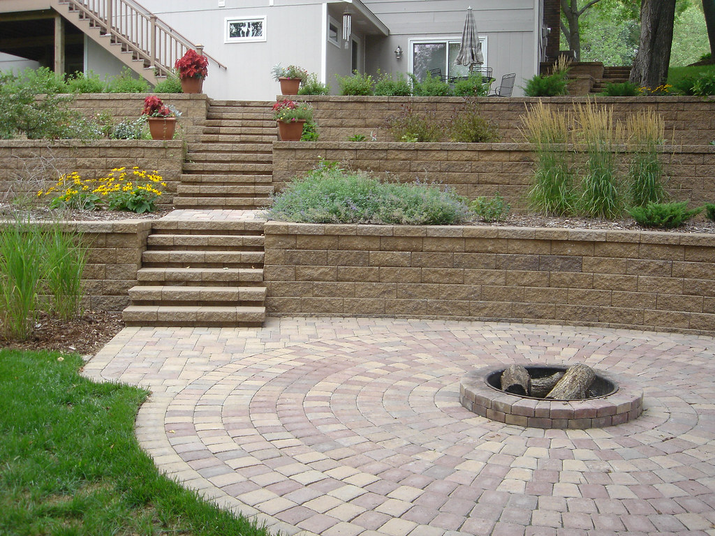 Circlestone Firepit Adds A Great Touch (Patio Town) Tags: Creek Landscapes  Willow Villa