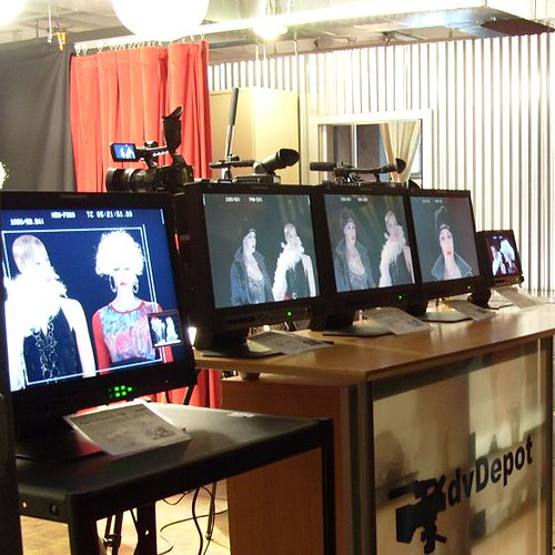 We set up all the cameras on monitors so people could compare the picture quality of each camera.