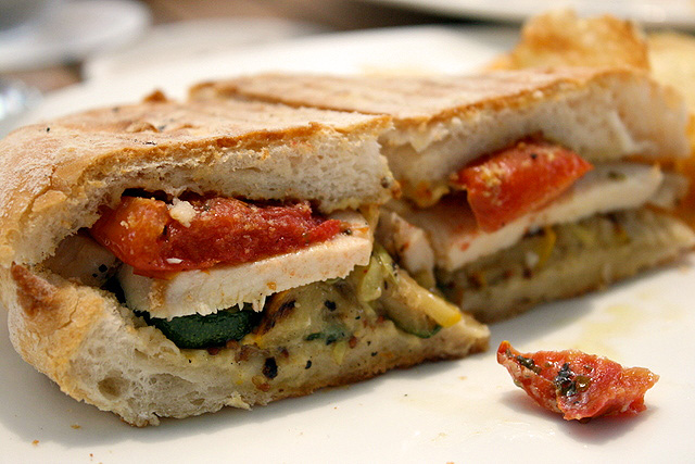 Pollo Ciabatta (S$9.80): Grilled chicken breast, whole grain mustard, sun-dried tomato & zucchini on ciabatta