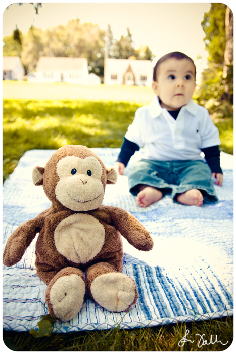Evan and his monkey.