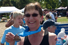 My mom just finished a triathlon