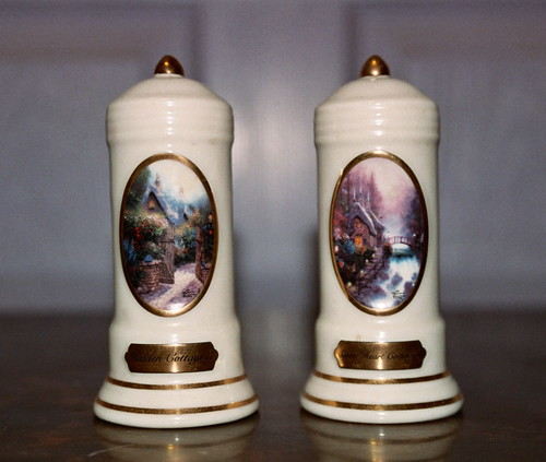 Thomas Kinkade Salt and Pepper Shakers