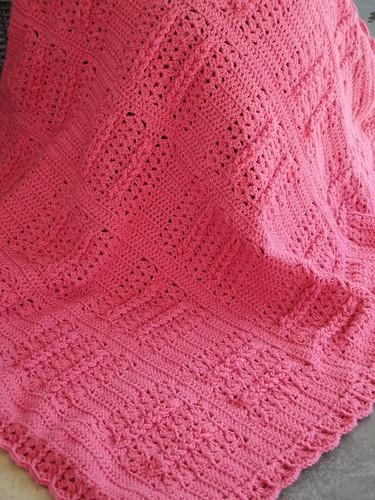 Salmon baby blanket
