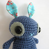 the last bluebell ever (sereneonion) Tags: blue cute rabbit bunny doll handmade crochet etsy amigurumi
