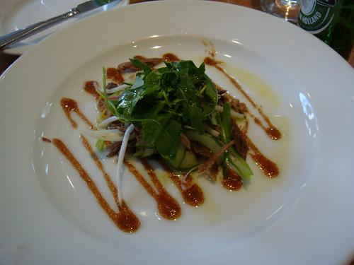 Oriental duck salad & hoi sin sauce