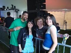 Danika, aodzhomie, and Lectra with Josh Gabriel at EZF2009.