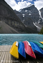 FANCY A PADDLE ?. (Des Hawley. Over 1.7 million views !!) Tags: wild canada mountains beautiful beauty clouds rockies cool nikon holidays outdoor gorgeous awesome lakes pines canoes alberta stunning environment blueskies wilderness decking breathtaking cloudscapes peacefulness d300 pastimes lakemoraine bellaterra supershot bellenature goldstaraward absolutelystunningscapes nikonflickrawardgold deshawley andromeda10 postie22