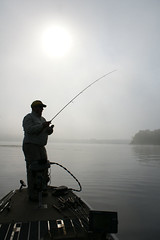 Fog and Fishing on Lake Onalaska WI (jimehle58) Tags: lakeonalaska spinningtackle panfishing fogonthewater labordayfishing