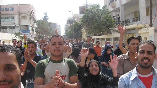 مظاهرة عمال شركة ابوالسباع فى المحلة