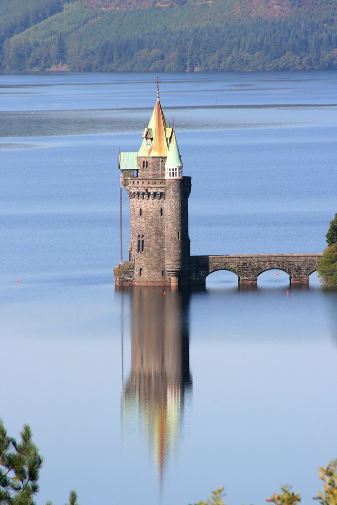 Lake Vyrnwy Tower viewed from room