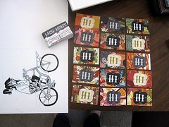 Business caaards (hellomeghunt) Tags: girl bike promotion cards wooden moo business busy illo hi