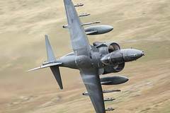 Harrier Cad West 01/10/09 (Keith~) Tags: plane aircraft raf harrier jumpjet cadair cader lowflying lfa7 cadwest