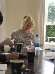 Annelie enjoying the read through