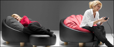 The EcoPod BeanBag Tub Chair bridges the beanbag concept with the tub chair style