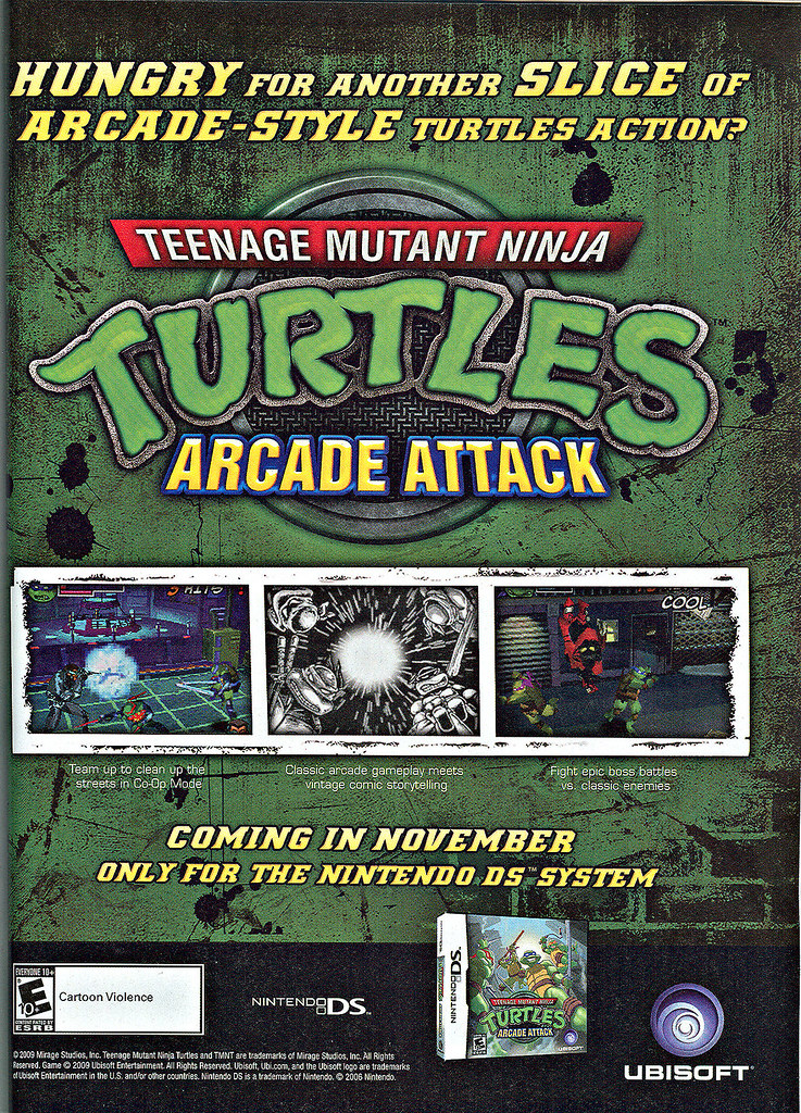 Teenage Mutant Ninja Turtles : ARCADE ATTACK // HUNGRY - ? spot  ad (( 2009 ))