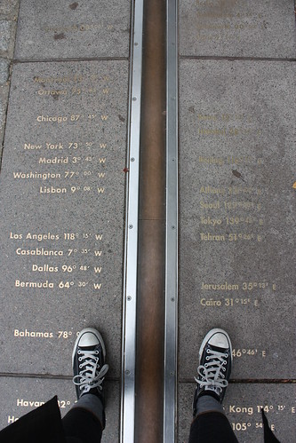 This photo is entitled Prime Meridian and Converse.
