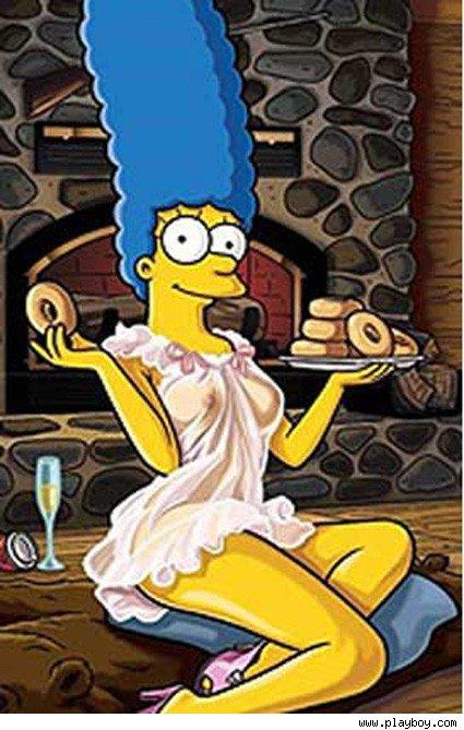 Marge Simpson Se Desnuda Para Playboy